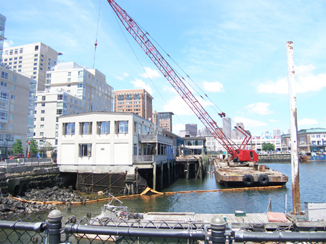 Demolition of Jimmy's Harborside Restaurant