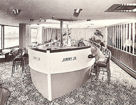 The famed Jimmy's boat bar, Jimmy Jr