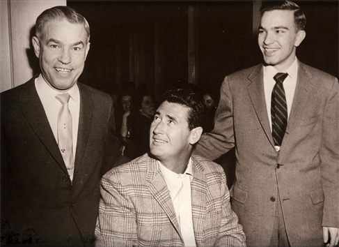 Jimmy & Charlie with Ted Williams